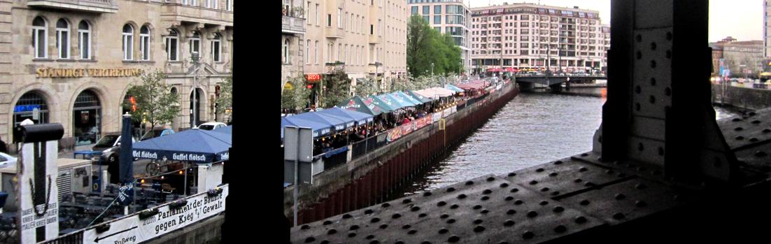 Berlin 10117 - Schiffbauerdamm - Blick von der S-Bahn-Brücke